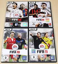 4 PC SPIELE SAMMLUNG - FIFA 08 09 10 11 - SOCCER FOOTBALL FUSSBALL EA BUNDESLIGA