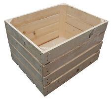 1 Stück NEUE natur Holzkisten Obstkisten Apfelkisten Weinkiste 50x40x31 - 53 L