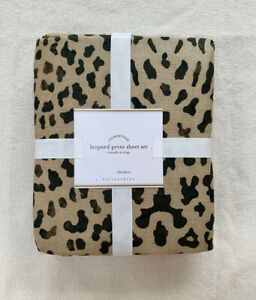 NEW Pottery Barn Leopard Sheet Set Full