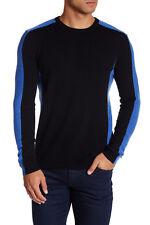 Autumn Cashmere Colorblock Cashmere Sweater Black-River XL NWT $336