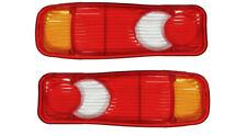 2x REAR LIGHT LAMP LENSES LEFT + RIGHT FIT CITROEN JUMPER RENAULT MASTER CABSTAR