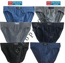 Classic Sports Mens Briefs Slips Underwear Cotton Pants S M L XL PACK 3 6 9 12
