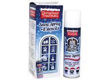 Schneespray  Dekospray  Spraydose  150 ml   inkl. 8 Weihnachtsschablonen Motive