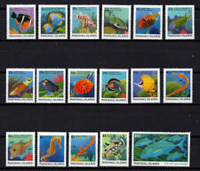 MARSHALL ISLANDS, SCOTT # 168-184, COMPLETE SET OF 17 VARIOUS TYPES OF FISH, MNH