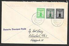German Reich covers 1941 Servicecover Deutsche Dienstpost Niederlande/BREDA