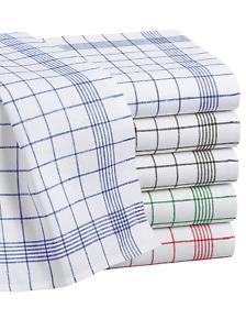 Geschirrtücher Set im 10er Pack Baumwolle oder Halbleinen 50x70 cm Küchentücher