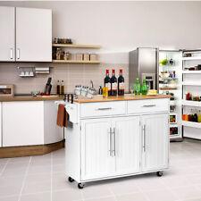 Küchenwagen Servierwagen Kücheninsel Küchenschrank Rollwagen Küchen 122 cm