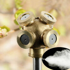 Brass Spray Nozzle Misting Garden Sprinklers Fitting Hose Water Connector 4 Hole