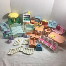 VTG Playskool Victorian Dollhouse Furniture  HUGE Complete LOT