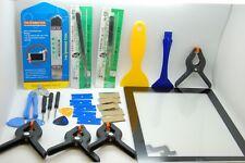 Ipad 2 Bolígrafo Negro conjunto de reemplazo con herramientas, botón de inicio & Adhesivo instalado