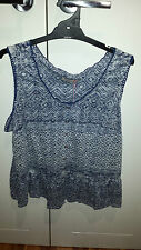 Per Una by Marks & Spencer blue and white Shirt Size UK 20 Brand new with tags