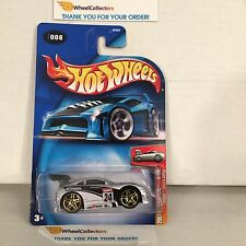 Tooned Toyota Supra #8 * SILVER * 2004 Hot Wheels * Y23