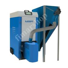 Pelletkessel PE 35kW mit 540L Pelletbehälter Pelletheizung Pellet Ofen Kesssel