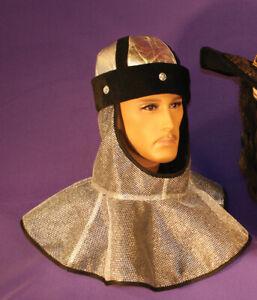 Chain Mail Faux Armor Roman Guard Viking Halloween Costume Accessory Helmet