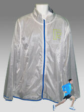 REEBOK AC Lite PlayDRY  Running Cycling Track Rain Jacket White & Blue XL