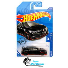 Hot Wheels 2018 Honda Civic Type R (Black) Honda 2/5 2020 D Case #81