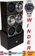 Winder: 6x +3 compartments: model-6B2 Luxury Display Boxy Brick Automatic Watch