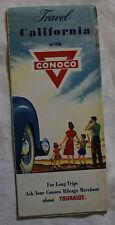 CONOCO CARTE ROUTIERE ROAD MAP 1950 Edition - CALIFORNIA