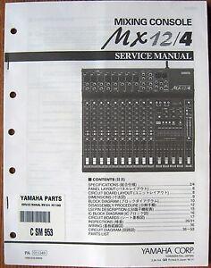 Yamaha MX12/4 Mixing Console Mixer Original Service Manual, Schematics Book
