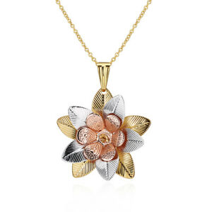"""GOLD PLATED FLOWER PENDANT AND CHAIN - 16/18"""" - 1012.05"""