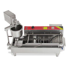 USA Commercial Automatic Electric Donut Making Machine Donut Fryer 3 Outlet NEW