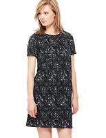 RRP £59 M&S Floral Jacquard Shift Dress Size 10 12 14 16 18 BNWOT