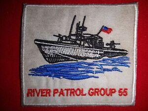 Vietnam War Patch US Navy RIVER PATROL GROUP 55 PBR