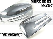 MERCEDES W204 CLASSE C 2011-2014 CHROME SIDE MIRROR COVER CAPS STYLE BRABUS AMG