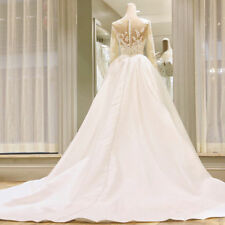 Wedding Dresses Long Sleeves Bridal Ball Gowns Formal Plus Size 0 4 6 8 10 12 14