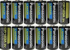 12 Panasonic CR123A CR123 CR 123 Lithium 3V Batteries 2028
