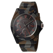 New FOSSIL Mens Poptastic Watch Multifunction Dial, Camo Silicone Band, Day Date