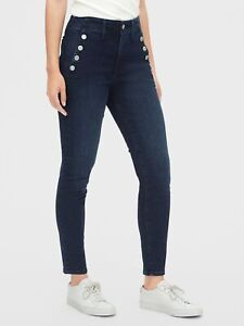 Gap Women's High Rise True Skinny Sailor Ankle Jeans Size 4/27 NWT