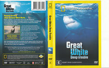 GREAT WHITE-DEEP TROUBLE - NATIONAL GEOGRAPHIC-DVD, R-2, NEW, FREE POST AUS-WIDE