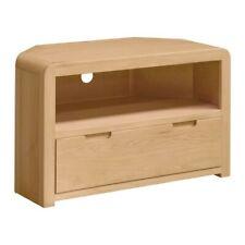 Roma Oak 1 Drawer Corner Tv Unit / Corner TV Unit / Solid wood Corner TV Unit