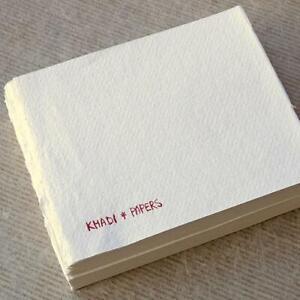 KHADI HANDMADE RAG PAPER BOOK BLOCK 13 x 16 cm Rough