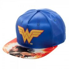 DC COMICS Wonder Woman Satin Printed Bill Snapback Hat NEW