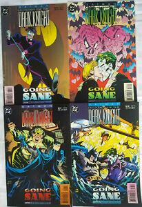 "Set: Batman Legends of The Dark Knight ""Going Sane"" Parts 1 to 4 - DC 1994"