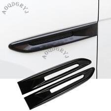 Glossy Black Side Door Air Vent Fender Molding Cover Trim For Jaguar XF 2016-19