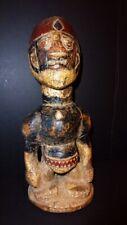 Rare Yoruba Statue -Antique Museum Quality Tribal Elder Figure With Unusual Hat