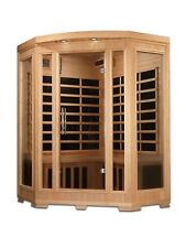 Dynamic Harmony 3 Person Corner Low EMF Far Infrared Sauna 9 Carbon Heaters NEW!