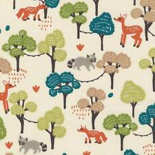 Textiles français Woodland Walkabout Children's fabric - 100% Cotton 160 cm wide