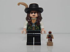 Lego Pirates Of The Caribbean Angelica With Feather & Trophy