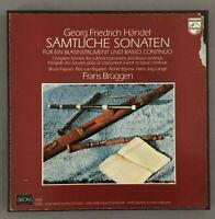 F365 Handel Complete Sonatas Wind Instrument Brüggen 3LP Philips 6747 096 Stereo