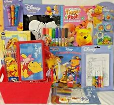 new Disney Pooh Easter toy Gift Basket School Supplies Books