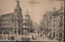 ANTIGUA POSTAL MADRID GRAN VIA HAUSER Y MENET OLD POSTCARD POSTKARTE     CC00762