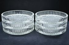 "Group of 6 Vintage Clear Glass ?Crystal Cut 3 1/2"" Diameter Beverage Coasters"