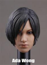 1/6 Head Sculpt For Ada Wong Resident Evil Female For HT Blond H#Suntan
