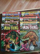 Marvel Comic Books, lot of 6 Man-Thing, 1974, #4-#9, F/VF