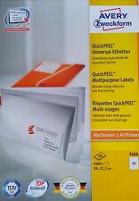 AVERY Zweckform 3666 Etiketten QuickPEEL Abziehhilfe 38x21,2mm Menge zur Auswahl