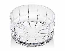 """RADIUS Shannon Crystal SQUARE CUT 9"""" Serving Bowl by Godinger Silver Art Co *"""